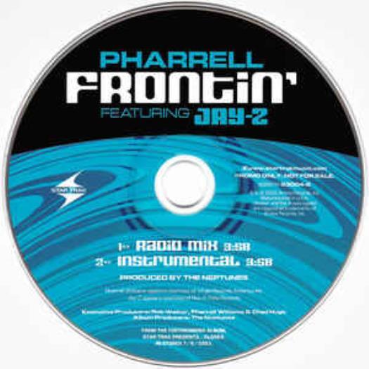 Pharrell: Frontin' PROMO MUSIC AUDIO CD Radio Mix